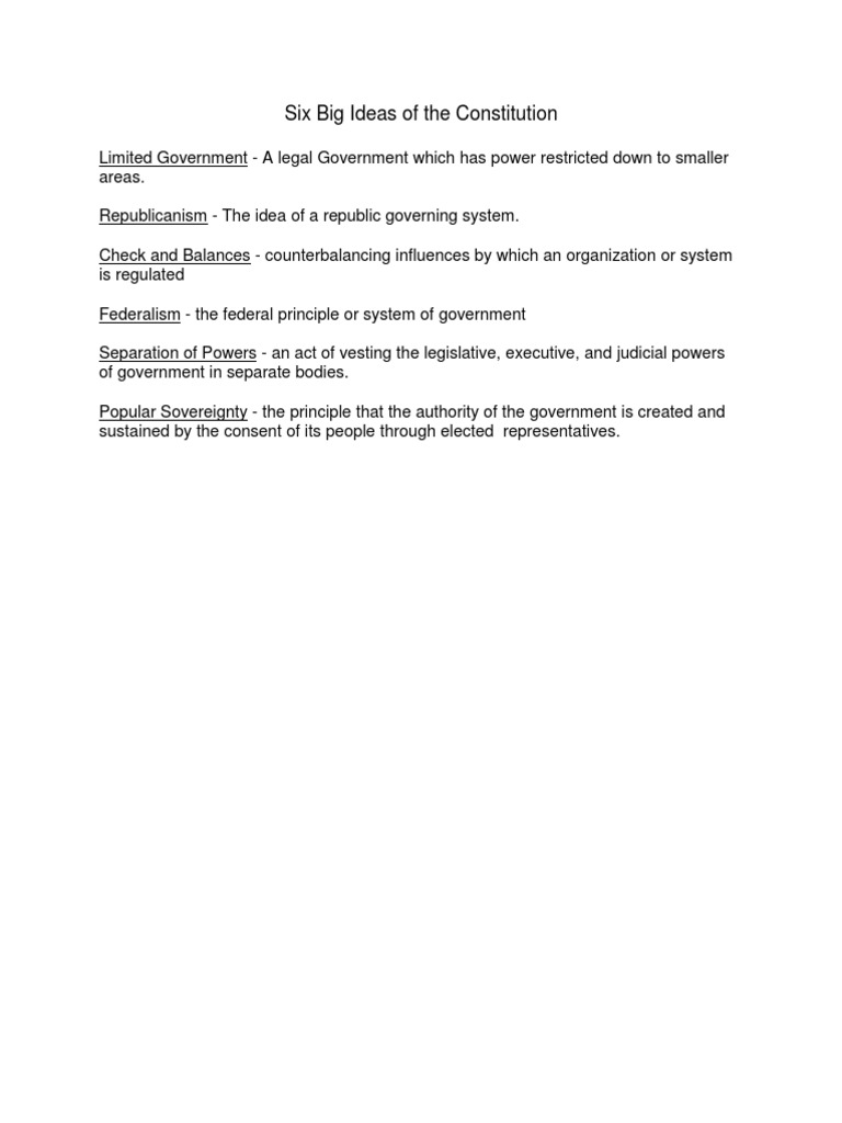 big ideas 2 0 | federalism | separation of powers