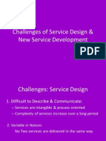 Challenges of Service Design & New Service Development
