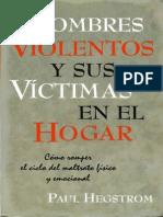 Hombres Violentos y Sus Victimas en El Hogar