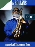 Sonny Rollins - Improvised Saxophone Solos