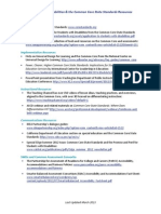 Resources on Students with Disabilities & the Common Core State Standards