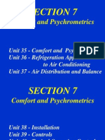 Unit 35 Comfort and Psychrometrics