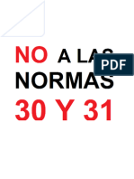 Desplegado demandando la cancelación y desecho de las Normas 30 y 31 - Sept. 2014