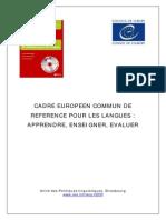 Cadre Européen Commun de Référence Framework Fr