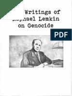 Raphael Lemkin Key Points From Key Writings