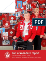 End of Mandate Report - The Hon. David C. Onley (2007-2014)