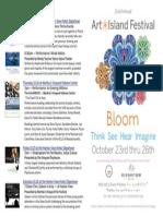 Arts & Ideas — Bloom Festival Calendar