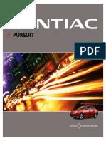 2005 Pontiac Pursuit Brochure Canada