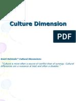 Culture Dimension