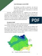 Caracterizarea Hidrologica a Anului 2008