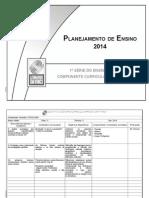 Planejamento 1 Ano - Ensino Médio - Sociologia - 2014