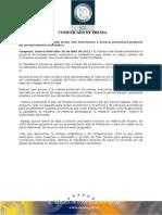 20-04-2011  Guillermo Padrés  anunció que se presentará un proyecto de fortalecimiento económico y competitivo para atraer un mayor número de inversiones al estado. B0411100
