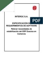 Id 48 - Relevar Necesidades de Estabilización Del ERP