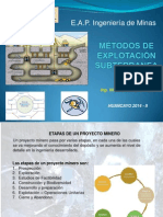 Métodos de Explotación Subterranea 3da Clase