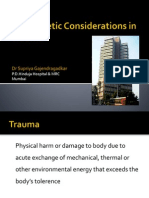 Anaesthetic Considerations in Trauma by Dr Supria Gajendragadkar