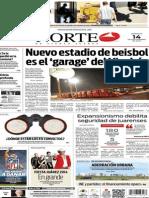 Periódico Norte edición del día 14 de septiembre de 2014