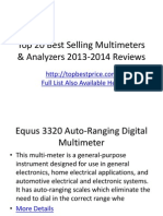 Top 20 Best Selling Multimeters & Analyzers 2013-2014 Reviews