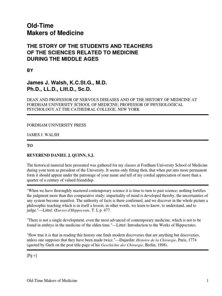 Old time makers of medicinethe story of the students and teachers of old time makers of medicinethe story of the students and teachers of the sciencesrelated to medicine during the middle ages by walsh james joseph fandeluxe Choice Image