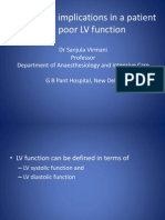Anaesthetic Implications in a Patient With Poor LV Function by Dr Sanjula Virmani