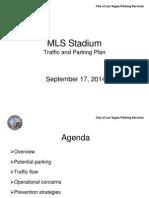 MLS stadium traffic and parking plan