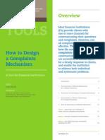 Mechanisms for Complaints Resolution