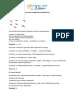 Exercicios Prova de Quimica 1-1 Trimestre