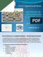 Métodos de Explotación Subterranea 4ta Clase