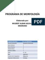 Programa de Morfología