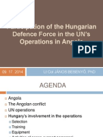 Hungarian peacekeepers in the UN missions in Angola
