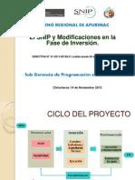 Presentacion Opi 1-Modificaciones en Fase de Inversion - Normatividad