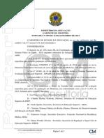 POR-MEC 808-2014 - Grupo de Trabalho Para Avaliação de Medicina