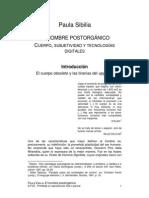 Paula Sibilia. El Hombre Post Organico.htm PDF