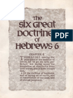 The Six Great Doctrines of Hebrews 6