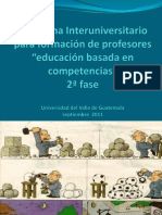 Formulación de Competencias Programa Interuniversitario