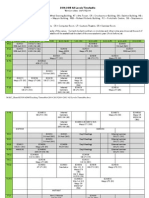2014-2015 All Levels Timetable