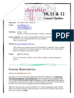 course outline - 2014-2015