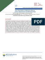 Photocatalytic Degradation of Methylene Blue by Titanium