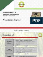 Presentacion Tiempo Cero Sep 2014