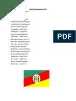 Hinos Dos Estados Do Brasil e Suas Bandeiras