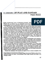 Bateson a Theory of Play and Fantasy