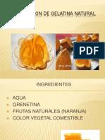 Preparacion de Gelatina Natural