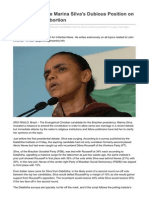 Brazil Candidate Marina Silva's Dubious Position on Gay Marriage, Abortion