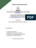 Microprocessor Fundamentals Course