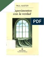 Auster, Paul - Experimentos Con La Verdad