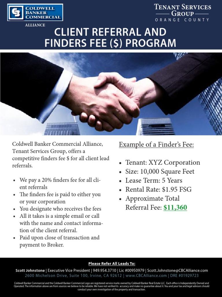 Referral & Finder's Fee ($) Flyer