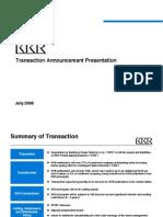 KKR Transaction Presentation