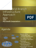 Hybrid Branch Infrastructure Solution