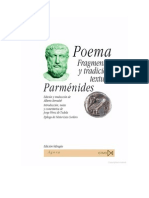 Poema de Parmenides Bernabe Bilingue
