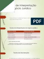 Teorias Interpretativas Do Negócio Jurídico