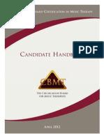 Candidate Handbook 2012